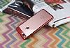 Eiroo Clear Thin iPhone 7 Plus / 8 Plus Kırmızı Kenarlı Şeffaf Rubber Kılıf - Resim 1