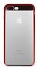Eiroo Clear Thin iPhone 7 Plus / 8 Plus Kırmızı Kenarlı Şeffaf Rubber Kılıf - Resim 3