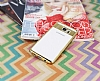 Eiroo Clear Thin Samsung Galaxy Note 5 Gold Kenarlı Şeffaf Silikon Kılıf - Resim 1