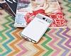 Eiroo Clear Thin Samsung Galaxy Note 5 Silver Kenarlı Şeffaf Silikon Kılıf - Resim 1