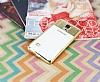 Eiroo Clear Thin Samsung Galaxy Note 4 Gold Kenarlı Şeffaf Silikon Kılıf - Resim 2