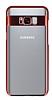 Eiroo Clear Thin Samsung Galaxy S8 Kırmızı Kenarlı Şeffaf Rubber Kılıf - Resim 3