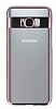 Eiroo Clear Thin Samsung Galaxy S8 Rose Gold Kenarlı Şeffaf Rubber Kılıf - Resim 3