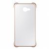 Eiroo Color Thin Samsung Galaxy A3 2016 Gold Rubber Kılıf - Resim 1