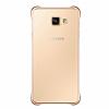 Eiroo Color Thin Samsung Galaxy A3 2016 Gold Rubber Kılıf - Resim 2