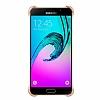 Eiroo Color Thin Samsung Galaxy A3 2016 Gold Rubber Kılıf - Resim 3