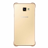Eiroo Color Thin Samsung Galaxy A7 2016 Gold Rubber Kılıf - Resim 2