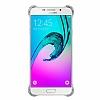 Eiroo Color Thin Samsung Galaxy A7 2016 Silver Rubber Kılıf - Resim 4