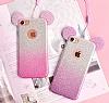Eiroo Ear Sheenful iPhone 6 Plus / 6S Plus Kırmızı Silikon Kılıf - Resim 4