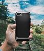 Eiroo Efficient iPhone 7 / 8 Mavi Kenarlı Ultra Koruma Kılıf - Resim 3