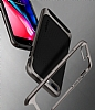 Eiroo Efficient iPhone 7 Plus / 8 Plus Gold Kenarlı Ultra Koruma Kılıf - Resim 3