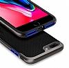 Eiroo Efficient iPhone 7 Plus / 8 Plus Gold Kenarlı Ultra Koruma Kılıf - Resim 4