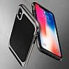 Eiroo Efficient iPhone X Kırmızı Kenarlı Ultra Koruma Kılıf - Resim 6