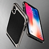 Eiroo Efficient iPhone X Gold Kenarlı Ultra Koruma Kılıf - Resim 6
