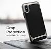 Eiroo Efficient iPhone X Silver Kenarlı Ultra Koruma Kılıf - Resim 3