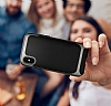Eiroo Efficient iPhone X Silver Kenarlı Ultra Koruma Kılıf - Resim 4