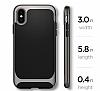Eiroo Efficient iPhone X Silver Kenarlı Ultra Koruma Kılıf - Resim 5