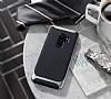 Eiroo Efficient Samsung Galaxy S9 Plus Silver Kenarlı Ultra Koruma Kılıf - Resim 1