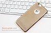 Eiroo Flashy iPhone 6 / 6S Metalik Gold Silikon Kılıf - Resim: 2