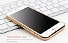 Eiroo Flashy iPhone 6 / 6S Metalik Gold Silikon Kılıf - Resim: 3