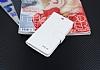 Eiroo General Mobile Android One Cüzdanlı Yan Kapaklı Beyaz Deri Kılıf - Resim 3