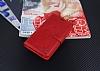 Eiroo General Mobile GM 5 Plus Cüzdanlı Yan Kapaklı Kırmızı Deri Kılıf - Resim 3