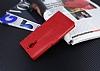 Eiroo General Mobile GM 5 Plus Cüzdanlı Yan Kapaklı Kırmızı Deri Kılıf - Resim 4