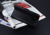 Eiroo General Mobile GM 5 Plus Cüzdanlı Yan Kapaklı Siyah Deri Kılıf - Resim 1