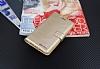 Eiroo General Mobile GM 5 Plus Cüzdanlı Yan Kapaklı Gold Deri Kılıf - Resim 3