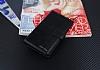 Eiroo General Mobile GM 5 Plus Cüzdanlı Yan Kapaklı Siyah Deri Kılıf - Resim 3