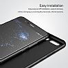 Eiroo Ghost Thin Huawei P10 Ultra İnce Şeffaf Siyah Rubber Kılıf - Resim 2
