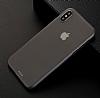 Eiroo Ghost Thin iPhone X Ultra İnce Şeffaf Siyah Rubber Kılıf - Resim 1
