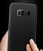 Eiroo Ghost Thin Samsung Galaxy S8 Plus Ultra İnce Şeffaf Siyah Rubber Kılıf - Resim 3