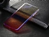 Eiroo Gradient Samsung Galaxy A7 2018 Geçişli Mor Rubber Kılıf - Resim 7