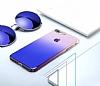 Eiroo Gradient Samsung Galaxy A7 2018 Geçişli Mor Rubber Kılıf - Resim 4