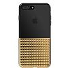 Eiroo Half Glare iPhone 7 Plus / 8 Plus Gold Silikon Kılıf - Resim 1