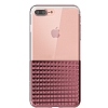 Eiroo Half Glare iPhone 7 Plus Rose Gold Silikon Kılıf - Resim 1