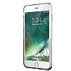 Eiroo Half Glare iPhone 7 Plus Silver Silikon Kılıf - Resim 2