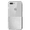 Eiroo Half Glare iPhone 7 Plus Silver Silikon Kılıf - Resim 1
