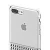 Eiroo Half Glare iPhone 7 Plus Silver Silikon Kılıf - Resim 4