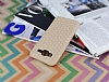 Eiroo Honeycomb Samsung Galaxy J5 Krem Silikon Kılıf - Resim 2