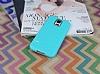 Eiroo Honeycomb Samsung Galaxy S5 Su Yeşili Silikon Kılıf - Resim 1