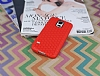 Eiroo Honeycomb Samsung Galaxy S5 Kırmızı Silikon Kılıf - Resim 1