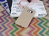 Eiroo Honeycomb Samsung Galaxy S6 edge Krem Silikon Kılıf - Resim 1