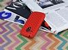 Eiroo Honeycomb Samsung i8190 Galaxy S3 Mini Kırmızı Silikon Kılıf - Resim 2