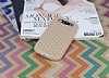 Eiroo Honeycomb Samsung i9300 Galaxy S3 Krem Silikon Kılıf - Resim 1