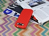 Eiroo Honeycomb Samsung i9300 Galaxy S3 Kırmızı Silikon Kılıf - Resim 2