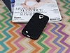 Eiroo Honeycomb Samsung i9500 Galaxy S4 Siyah Silikon Kılıf - Resim 1