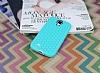 Eiroo Honeycomb Samsung i9500 Galaxy S4 Su Yeşili Silikon Kılıf - Resim 1