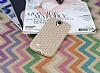 Eiroo Honeycomb Samsung i9500 Galaxy S4 Krem Silikon Kılıf - Resim 1